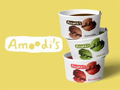 Amoodi's icecream rebranding logo design logodesign identitydesign design branding logo