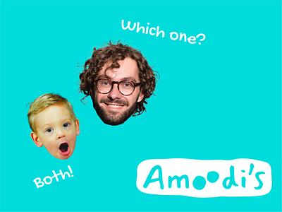 Amoodi's icecream wordmark rebranding logo design typography logodesign identitydesign design branding logo
