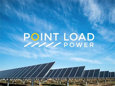 Point Load Power solar solar energy solar panel green logo rebrand rebranding logo design logodesign identitydesign design branding logo