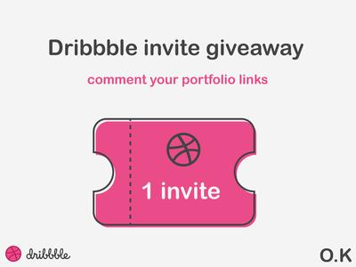 Dribbble Invite Design