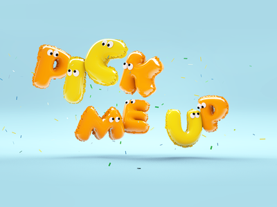 monster letter octanerender c4d 3d art photoshop cute art design