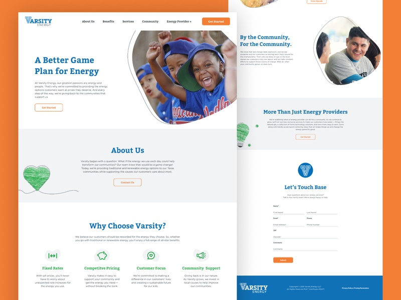 Energy Provider Landing Page charity community energy provider landing page webdesign