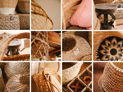 Basketware Product Photography brochure catalogue handwoven african woman african rustic weave baskets photoshoot branding basketware product photography