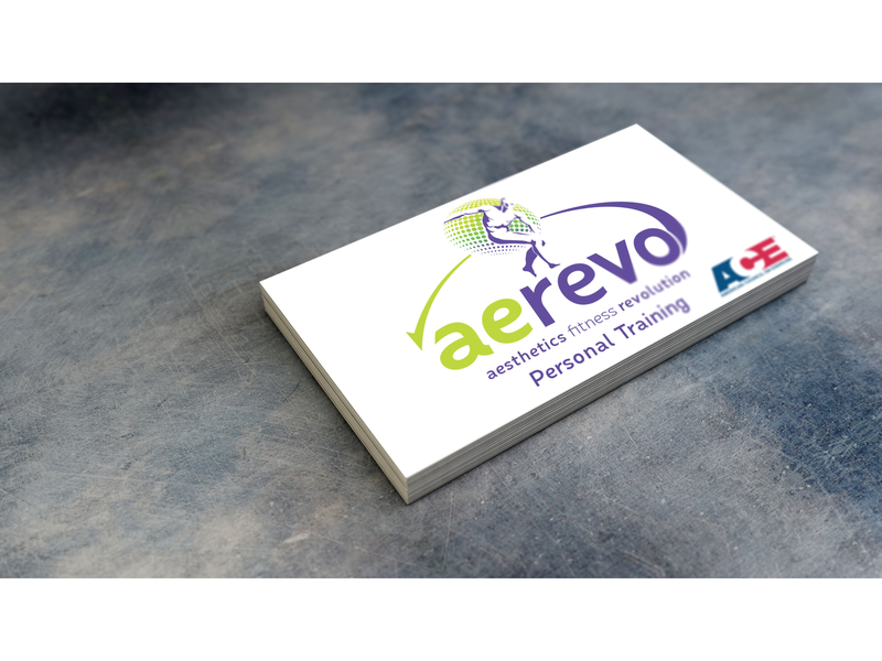 Personal Trainer Business Card Mockup