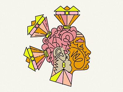 Astra face design artwork portrait ilustrace vector marekehrenberger illustrator illustration
