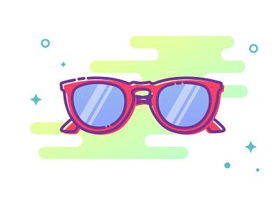List of things 3 design graphic sun glasses icon illustration list of things music festival summer festival