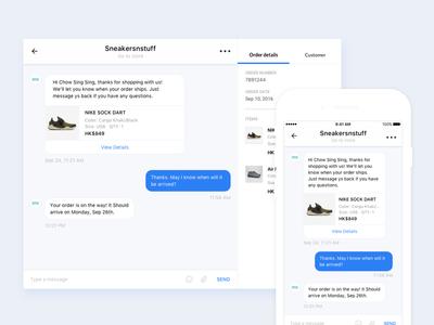 Messenger UI bot messages flat design form ui direct message messenger