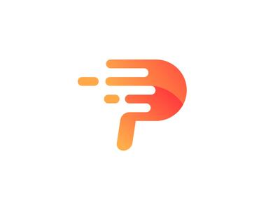 P Logo brand graphic logotype logo p