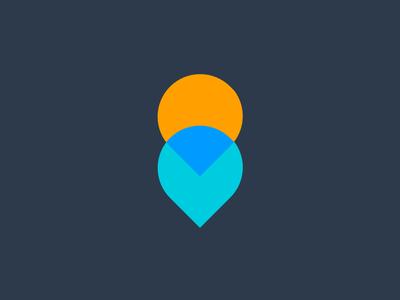 Symbol - Merging flat color merging directions icon logo symbol