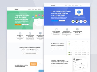 AfterShip & Postmen Site Rebranding uiux web flat color website rebranding shipping return tracking