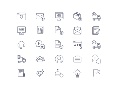 AfterShip Icons tracking web package shipping product new design ui line icons