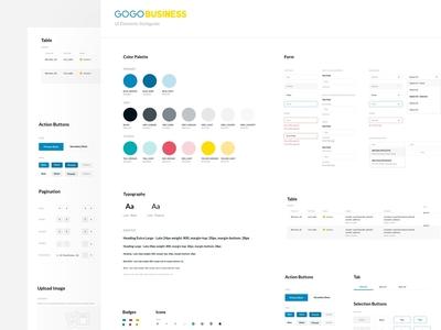GOGO Business web - UI Styleguide