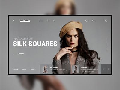 Homepage Version Woman Platform branding typography platform photo logo homepage design model concept style ecommerce fashion website web ux ui design