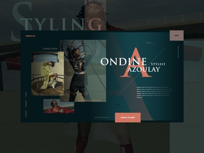 Shot Style branding model photo typography advertising concept website fashion style design web ux ui