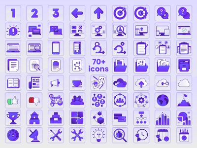 70+ Icons icon set