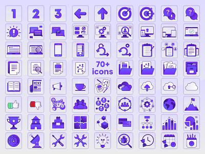 70+ Icons icon set