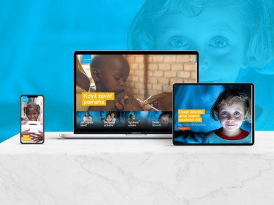 REDESIGN OF A NEW PROJECT FOR UNICEF new homepage ux design website ui agency webdesign