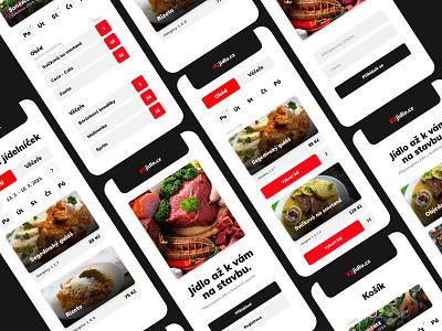 Mobile delivery app mobile delivery logo mobile app website webdesign czech colorful brand delivery app mobile ui uiux food 2021