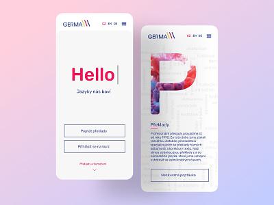 Germa mobile design logo webdesign app mobile brand design