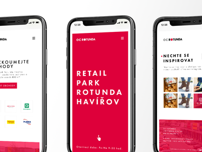 OC Rotunda mobile red logodesign webdesign mobiledesign
