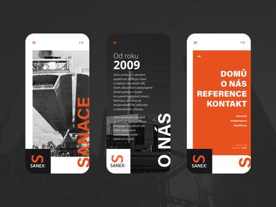 SANEX Mobile Website concept