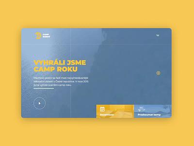 Website of camp Borný video logo menu aparments camp design brand 2019trends ui homepage agency website 2019 webdesign branding