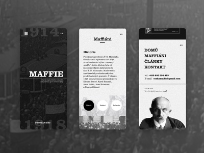 Retro webdesign of Maffie ux ui homepage mobile agency old retro czech design brand 2019 trend 2019 website web