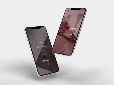 Mobile webdesign for hotel Kortus iphone mockup agency brand 2019 trends 2019 mobiledesign mobile webdesign hotel