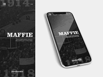 Maffia mobile website mobilewebdesign mobile mobilefirst trends agency branding agency website design ui homepage brand website logo branding agency webdesign 2019