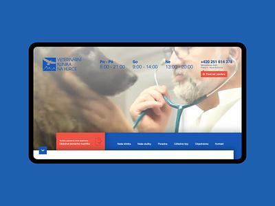 Webdesign for Vets4pets ui ux brand elegant motion mockup tablet show digital webdesignagency new blue 2019 trends coding webdesigner webdesigns webdesign pets