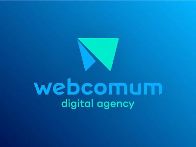 Webcomum - New logo w branding agency design web webcomum logo