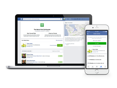 Safety Check facebook emergency safety check mobile disaster