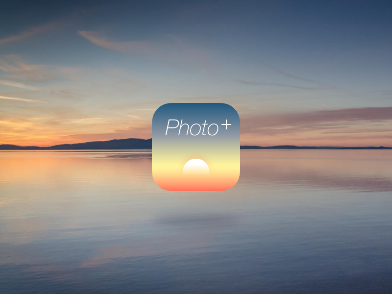 Pacphotos APP Icon sea sunshine sunset sun app logo icon