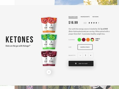 Ketones Product Page Info