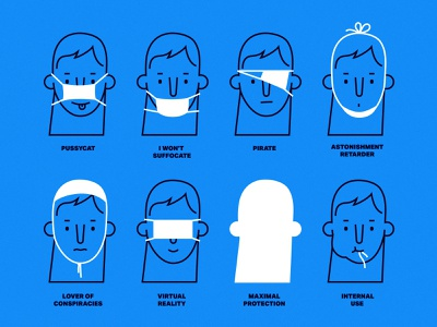 How to Wear a Mask coronavirus face mask covid manual illustration