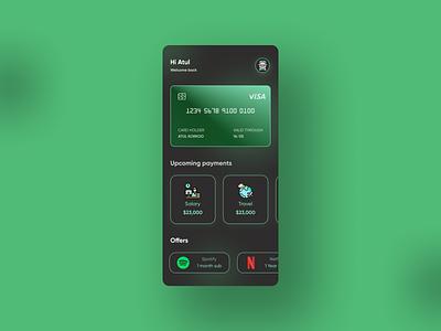 Credit Card UI dailyuichallenge monocolour payment ui modernui icon mobile app mobile ui softui dailyui