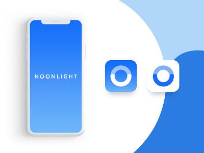 Blue or white? icon app design gradient safety startup airy peaceful calming white blue splashscreen logo branding ios mobile app icon