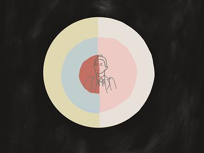 The lady flat design illustrationoftheday minimal illustration
