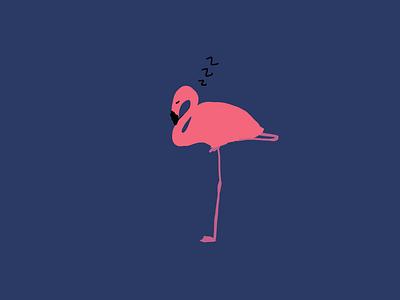 Flamingo zzzz design illustrator illustrationoftheday minimal illustration