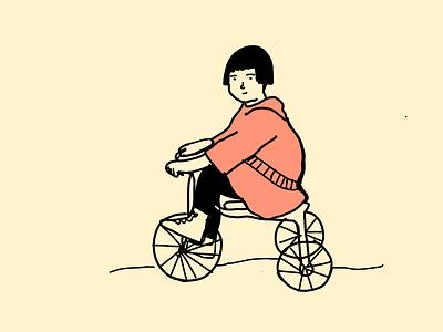 A child in a bike illustrator illustrationoftheday minimal illustration
