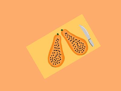Papaya illustrator illustrationoftheday minimal illustration