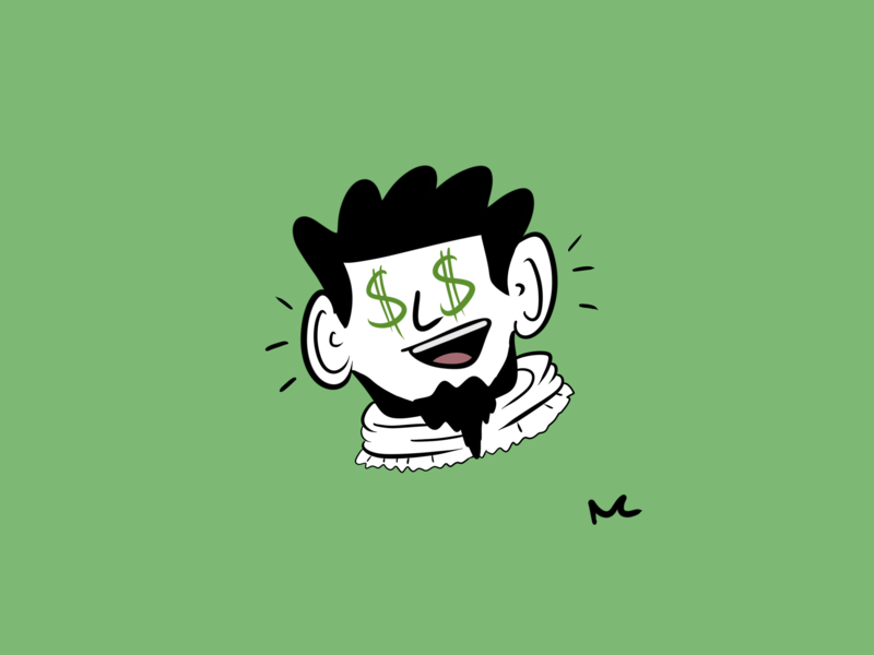 Money! branding icon design illustration apple pencil animation procreate portrait