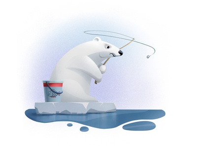 Polar Bear #1 fish fisherman procreate app bear ice sea frustration anger fishing polar bear polarbear procreateapp illustration illustration art character design 2d illustration procreate art procreate