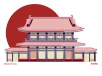 Heian Shrine Illustration