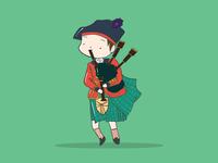 18th Century Scottish Bagpiper