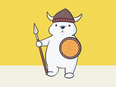 Cute Viking Polar Bear