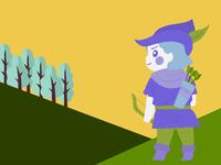 Cute Robin Hood Illustration
