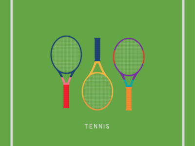tennis rackets icons