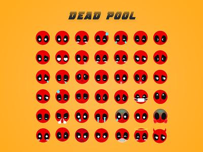 Deadpool Emoji   Dribbble characer design illustration deadpool marvel emoji icon flat