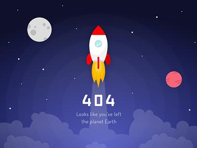 Daily UI Challenge: 008 404 vector illustration flat design
